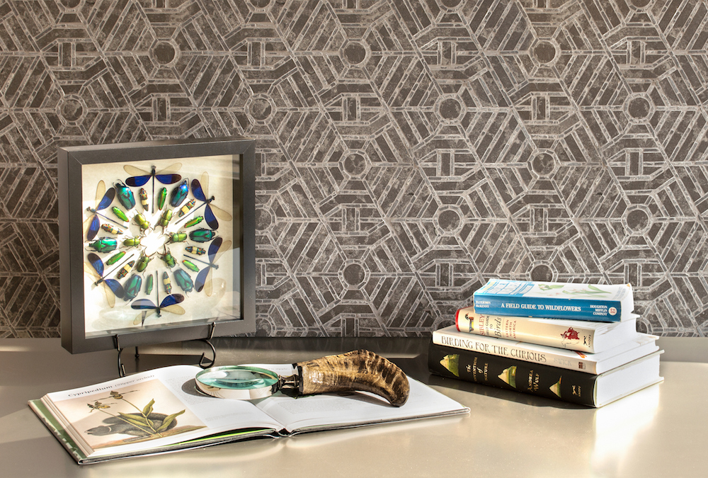 Concentrico stone mosaic