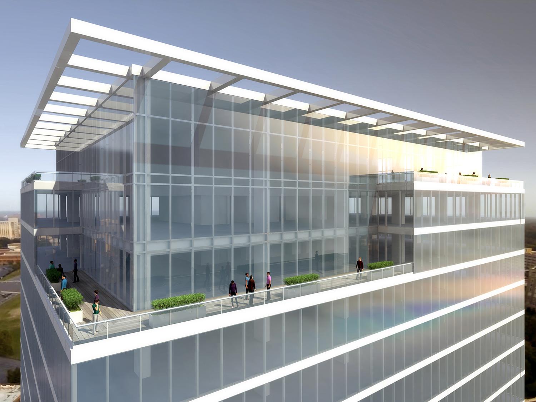 615 S. College Upper Exterior, John Portman & Associates