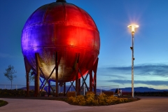 Acid Ball. Bellingham waterfront. Bellingham, Washington.© Copyright 2018 Benjamin Benschneider All Rights Reserved. Usage may be arranged by contacting Benjamin Benschneider Photography. Email: bbenschneider@comcast.net