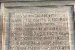 """Inscription, """"Pulcino della Minerva,"""" or"""