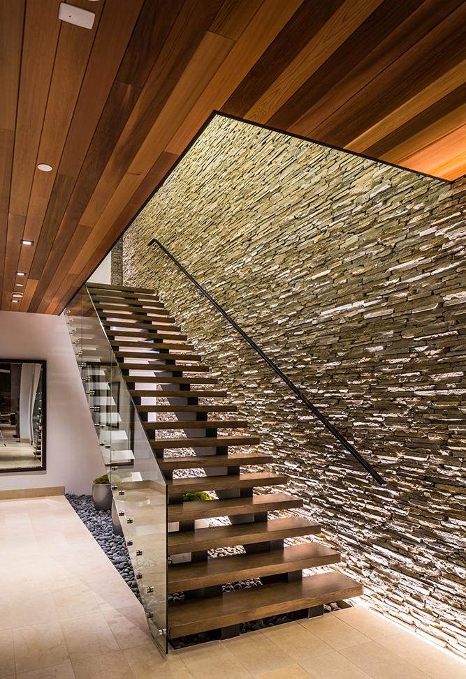 Interior Staircase; Photo Credit Ciro Coelho Photography