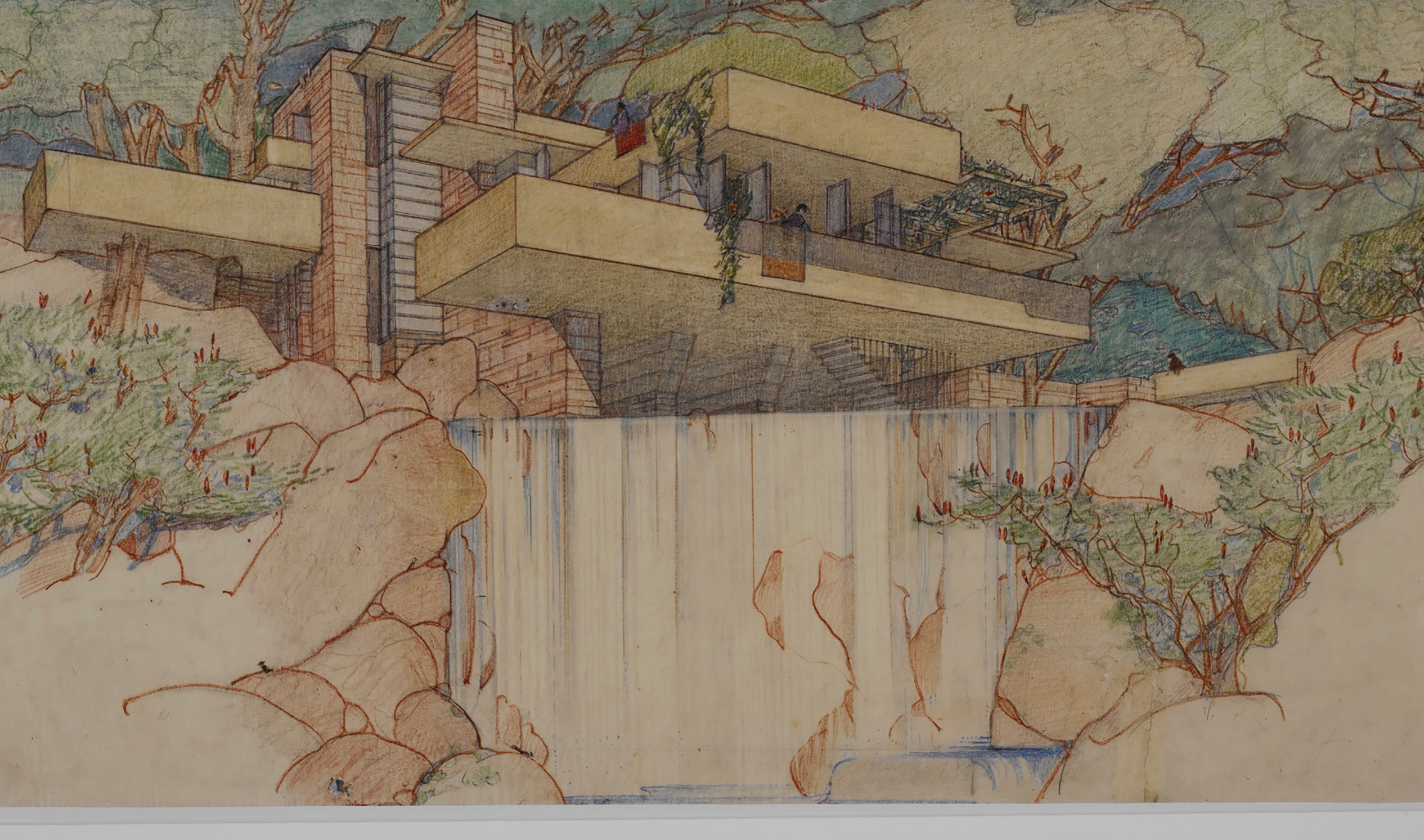 Frank Lloyd Wright (American, 1867–1959). Fallingwater (Kaufmann House), Mill Run, Pennsylvania. 1934–37.