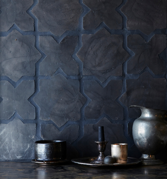 cle-tile: Belgian reproduction, star cross, Flemish black dark-grout; Still life photograph by Laurie-Frankel-1-new (2)