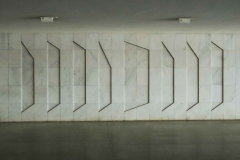 Marble Wall Geomtetric Relief by Artist Athos Bulcão at Itamaraty Palace