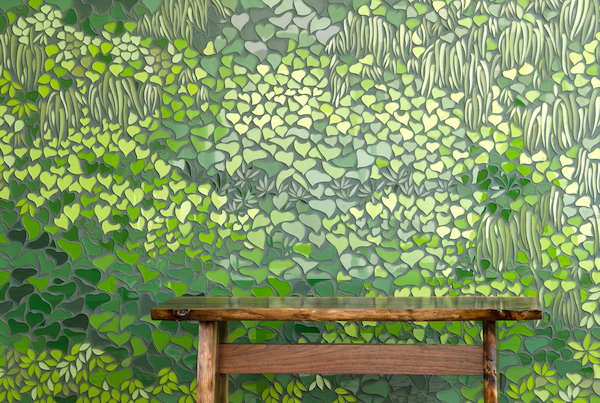 Living Wall glass mosaic, New Ravenna