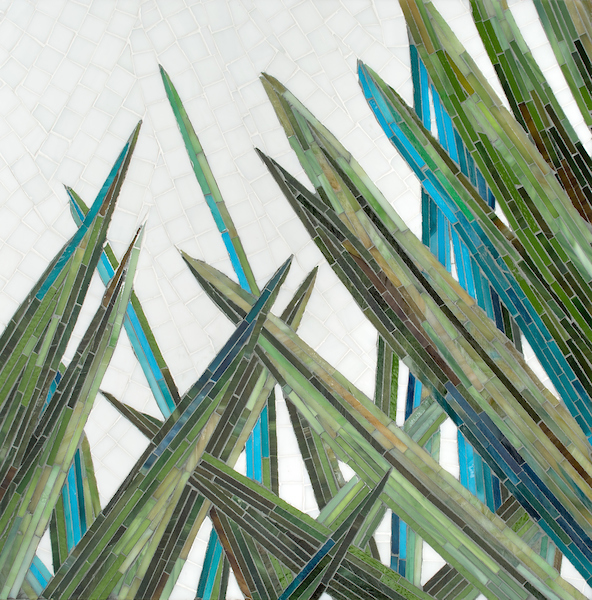 Mod Palm jewel glass mosaic, designed by Joni Vanderslice for New Ravenna