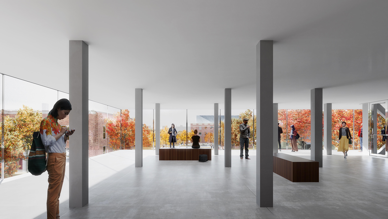 Lobby, Brown University Performing Arts Center, REX