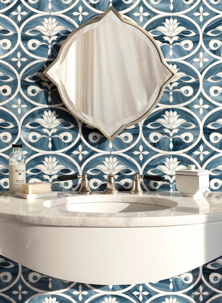 Beatrice jewel glass mosaic