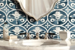 Beatrice jewel glass mosaic