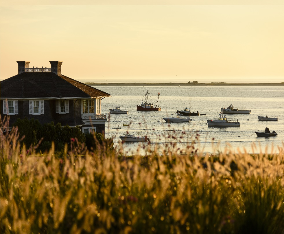 Chatham Bars Inn, Cape Cod, Octagon and Harbor, Morning Light