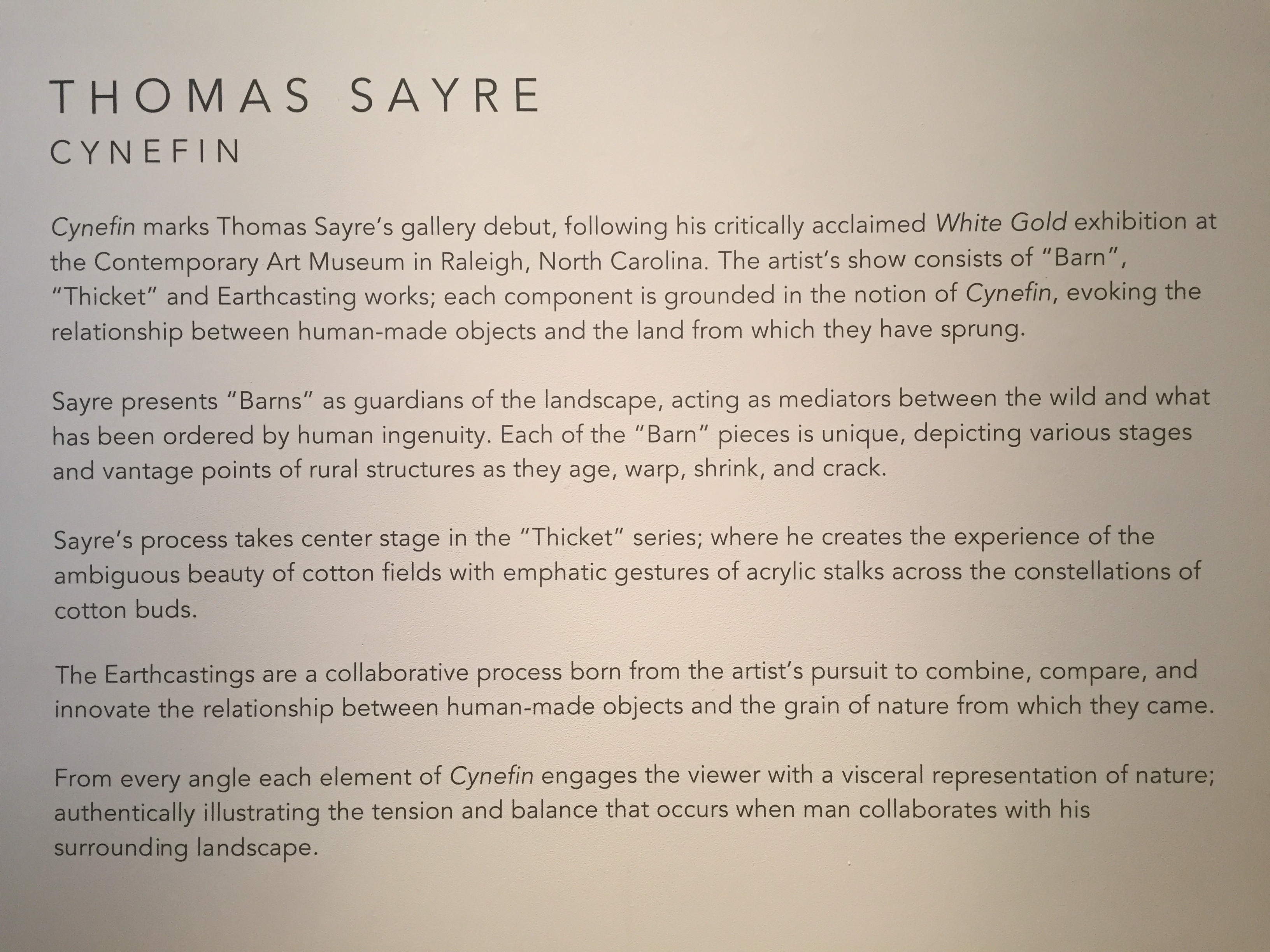 """Cynefin,"" by Thomas Sayre"
