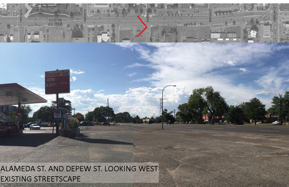 Alameda Parkway, Phase B2, Existing