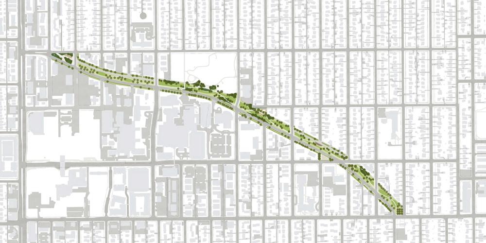 Hale Parkway, Elevated Path Rendering, Civitas