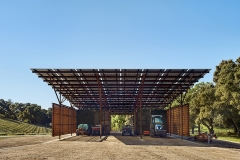 Saxum Vineyard Equipment Barn by Clayton & Little; Photo by Casey Dunn