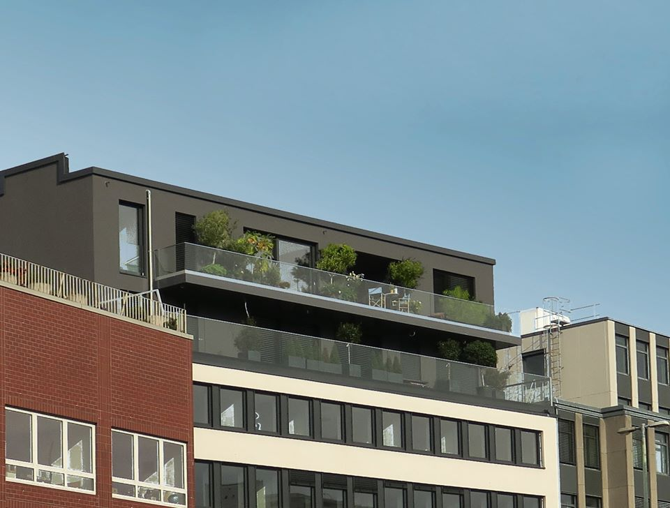 Exterior,  Cologne Penthouse by Oliver Weirich; Photo by Paul Clemence