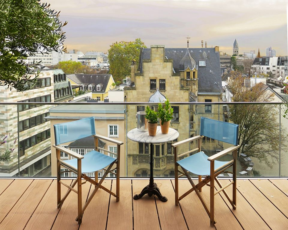 Balcony View,  Cologne Penthouse by Oliver Weirich; Photo by Paul Clemence