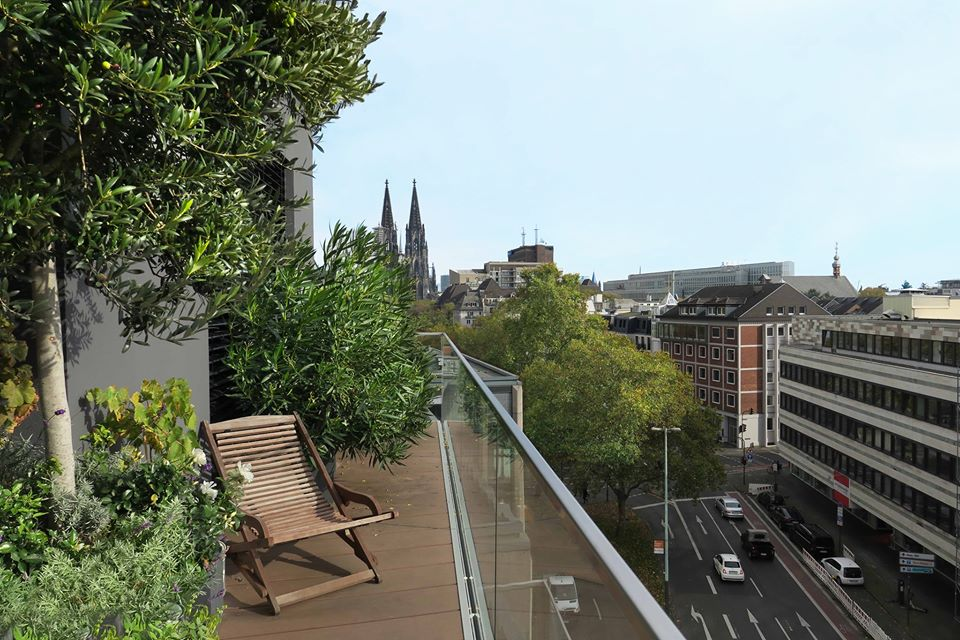 Balcony Vista, Cologne Penthouse by Oliver Weirich; Photo by Paul Clemence