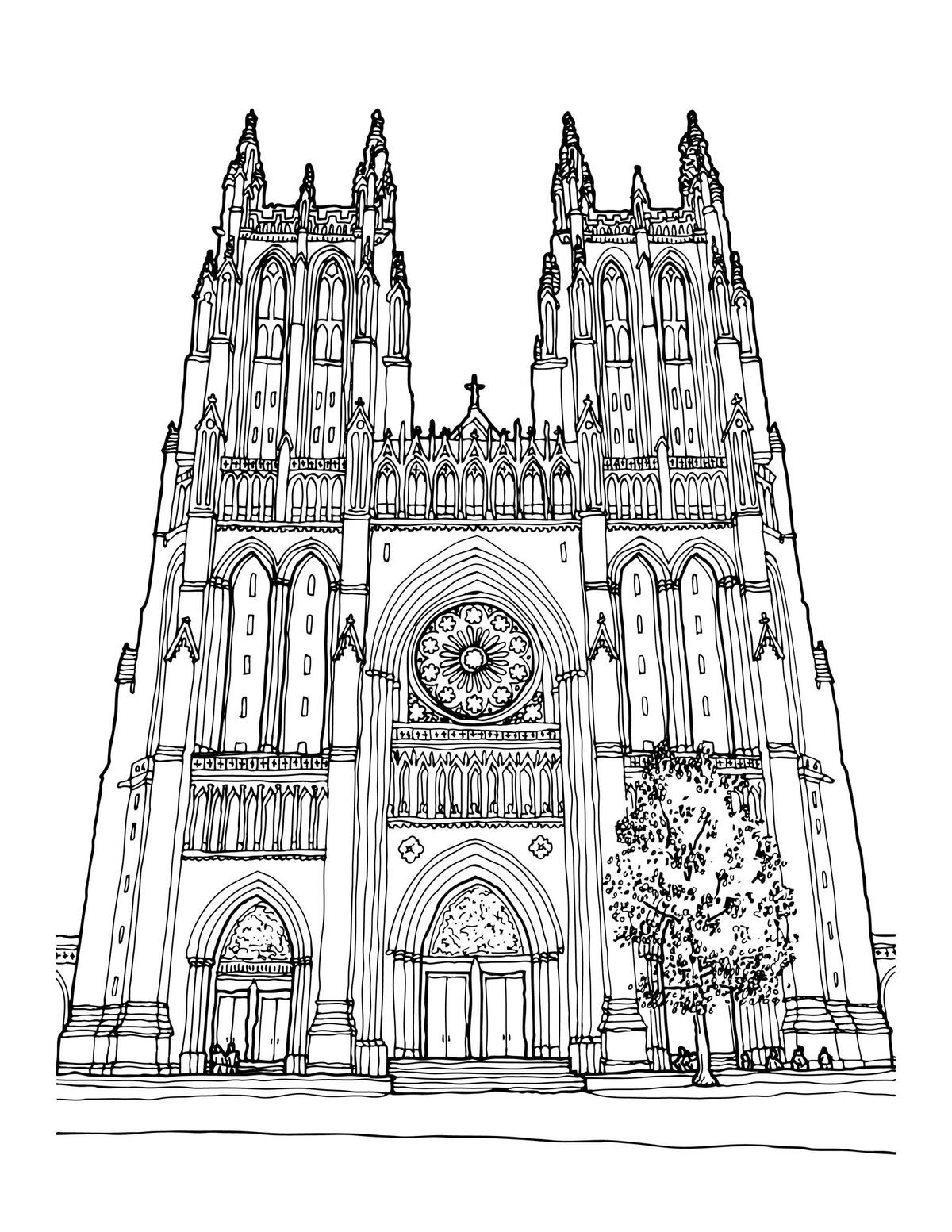 An Architectural Coloring Book for Washington, D.C. ‹ Architects and ...