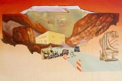 • Susanna Battin — Key Observation Point 2, 2018, Acrylic and graphite on canvas