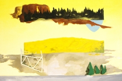 • Susanna Battin —Key Observation Point 6, 2018, Acrylic and graphite on canvas