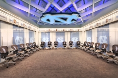 Dean Smith Center, Men's Locker Room, HOK; Photo by Jim Sink