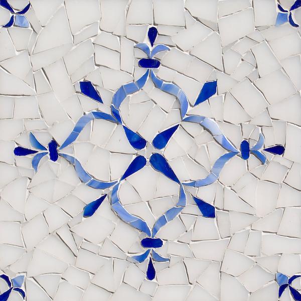 Fleur Delft glass mosaic