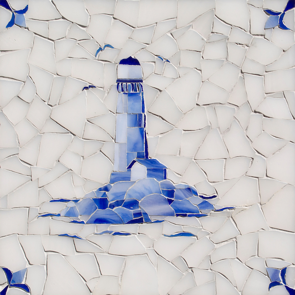 Lighthouse Delft glass mosaic