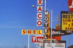 The Las Vegas Strip, 1968 Photo by Denise Scott Brown, courtesy of Venturi, Scott Brown and Associates, Inc.