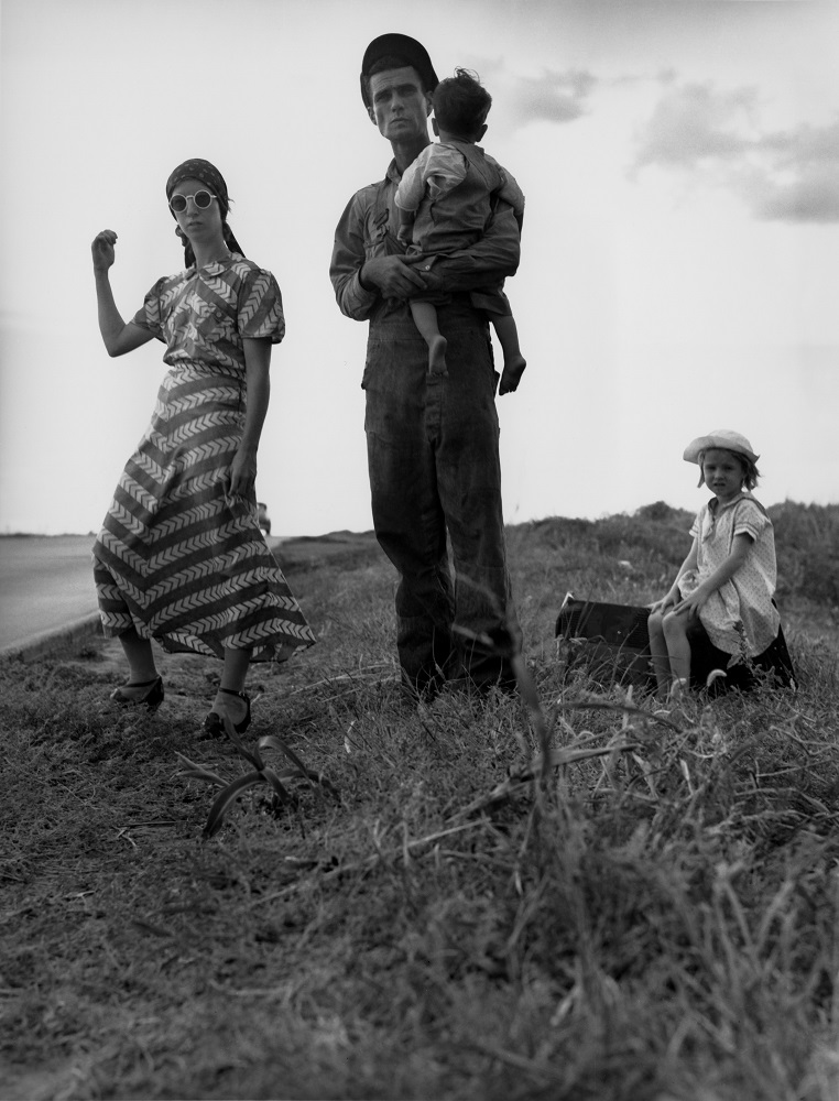 Dorothea Lange. Family on the Road, Oklahoma, 1938. Gelatin silver print. © The Dorothea Lange Collection, the Oakland Museum of California, City of Oakland, Gift of Paul S. Taylor