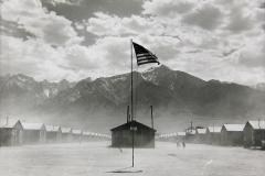 Dorothea Lange. Manzanar Relocation Center, Manzanar, California, 1942. Gelatin silver print. Collection of the Oakland Museum of California, City of Oakland, Gift of Paul S. Taylor