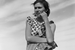 Dorothea Lange. Untitled (Oklahoma Mother in California), 1937. Archival pigment print. © The Dorothea Lange Collection, the Oakland Museum of California, City of Oakland, Gift of Paul S. Taylor
