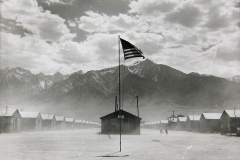 Dorothea Lange. Manzanar Relocation Center, Manzanar, California, 1942. Gelatin silver print. Collection of the Oakland Museum of California, City of Oakland, Gift of Paul S. Taylor