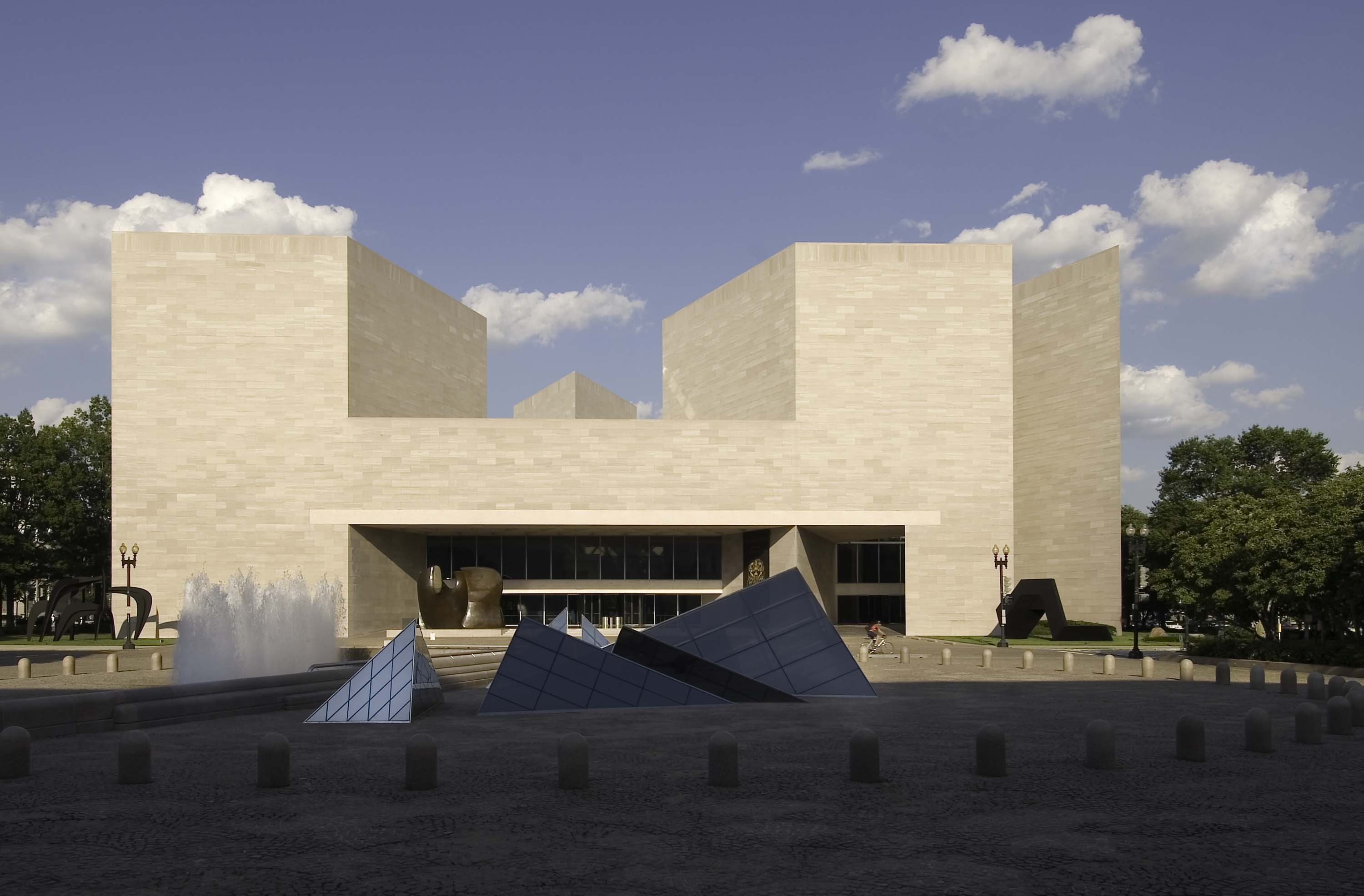 The East Building of the National Gallery of Art, designed by I. M. Pei. Photo © Dennis Brack/Black Star. National Gallery of Art, Washington, Gallery Archives