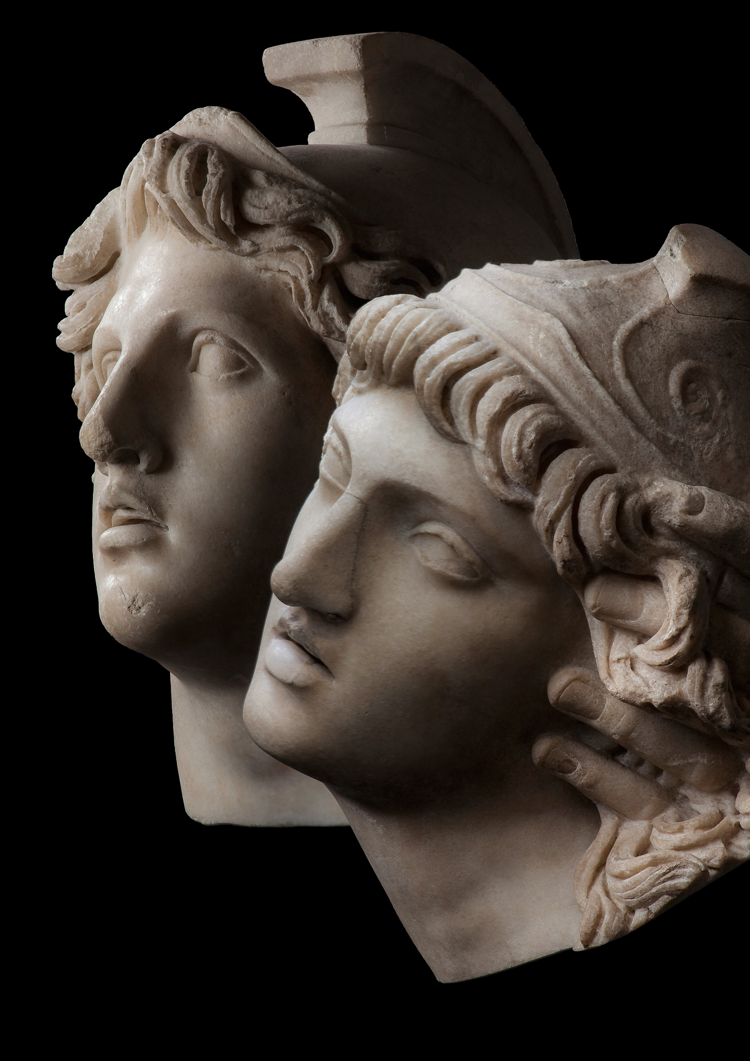 Heads of Achilles and Penthesilea. 2nd century AD, © Antikenmuseum Basel und Sammlung Ludwig, Photography Rüdi Habegger
