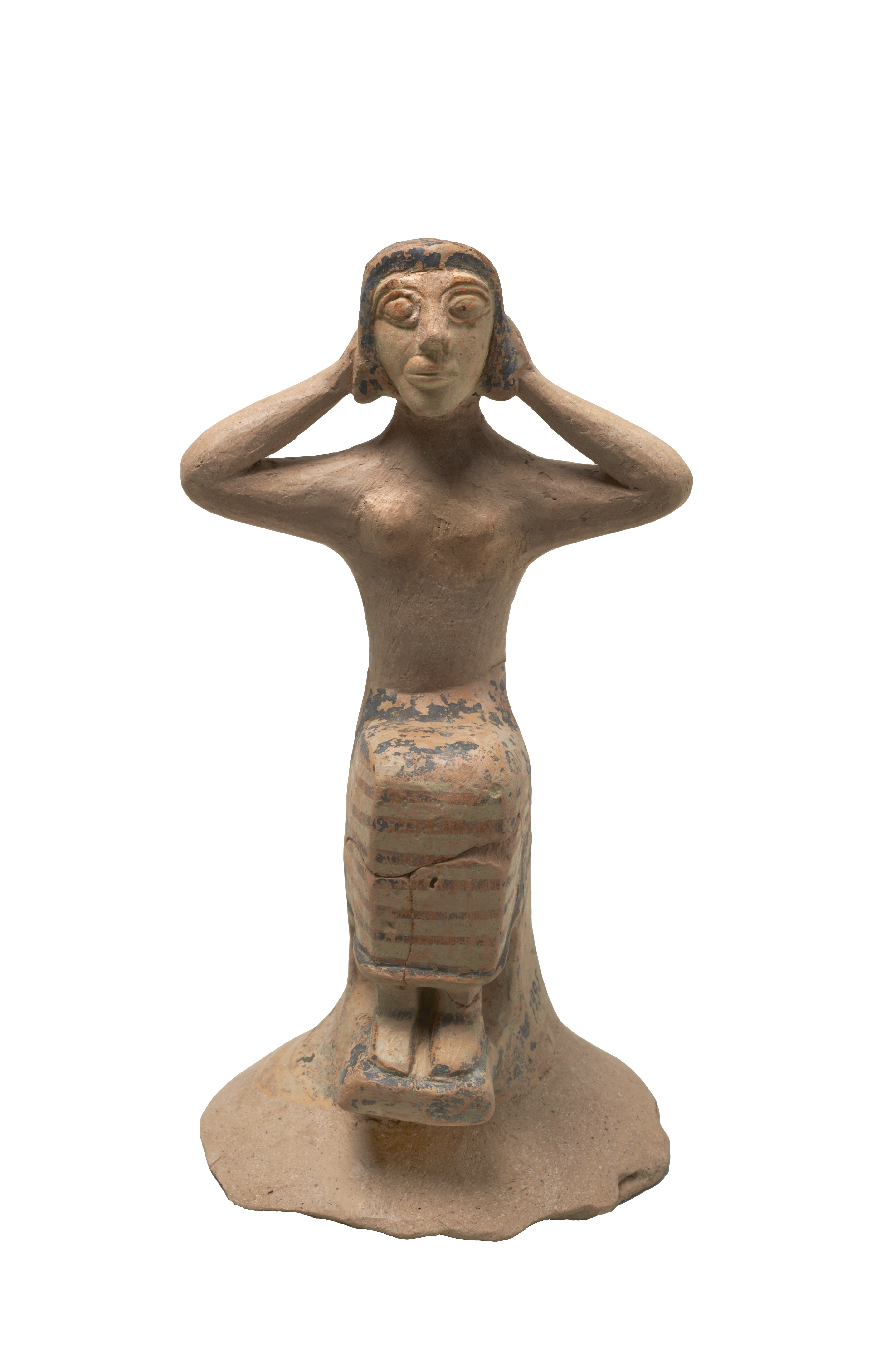 Figurine of a Mourning Woman,Heraklion Archaeological Museum, Π 7995. © Hellenic Ministry of Culture and Sports–Archaeological Receipts Fund. Photography Kostas Xenikakis