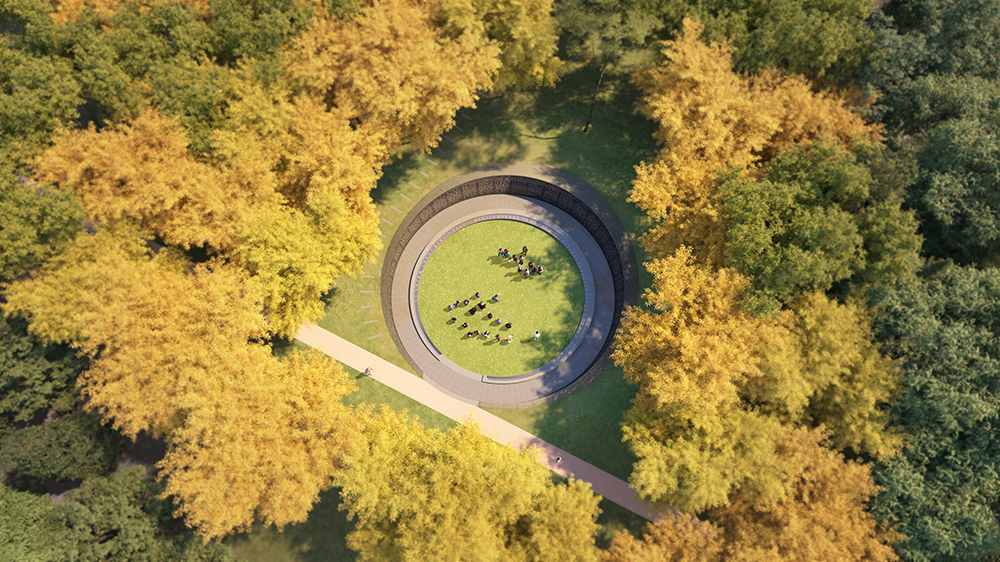 Aerial View: U.Va. Memorial to Enslaved Laborers