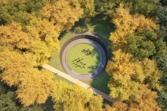 Aerial View: U.Va. Memorial to Enslaved Laborers