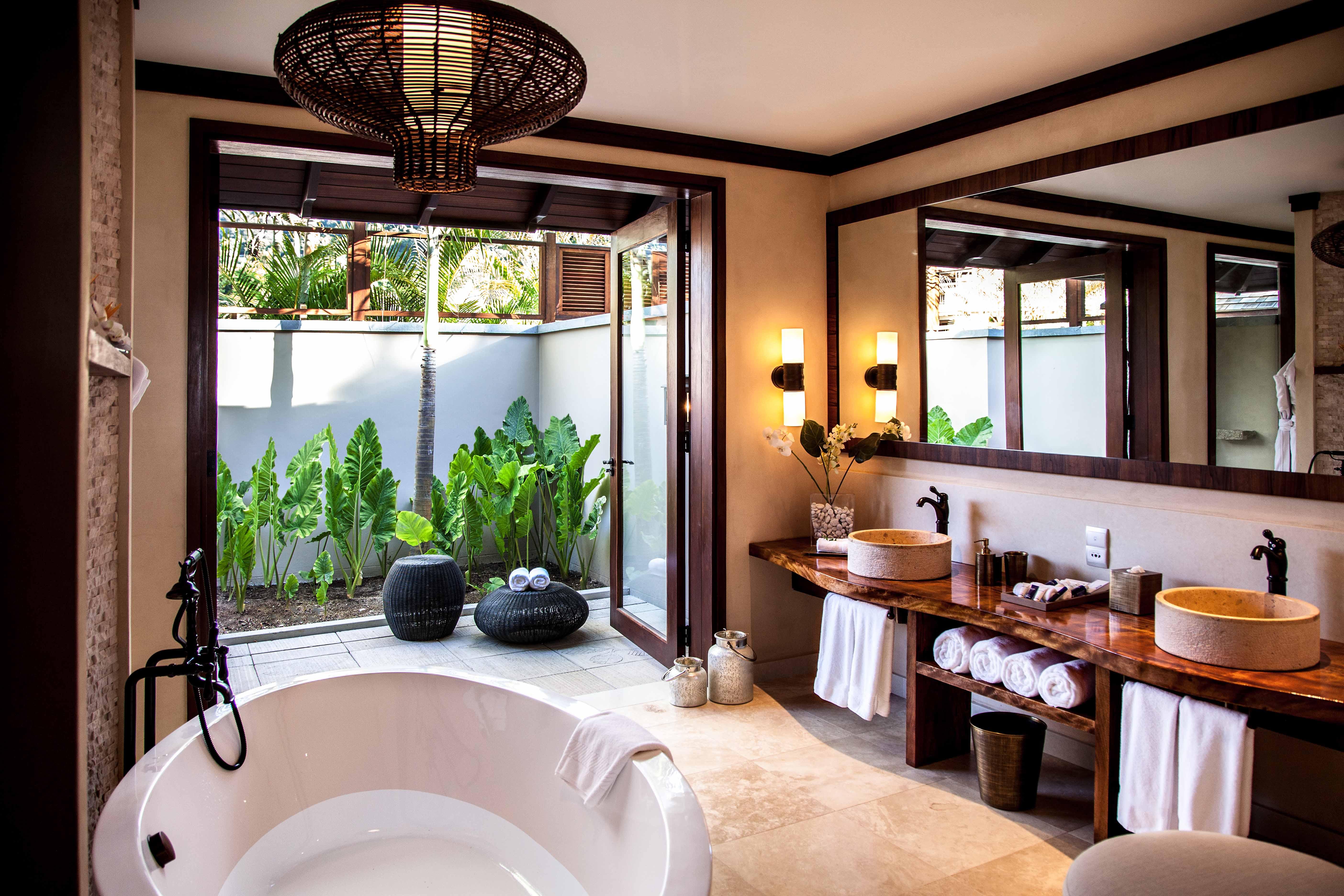 Seychelles, Beach Villa and Bath, Gerry O'Leary