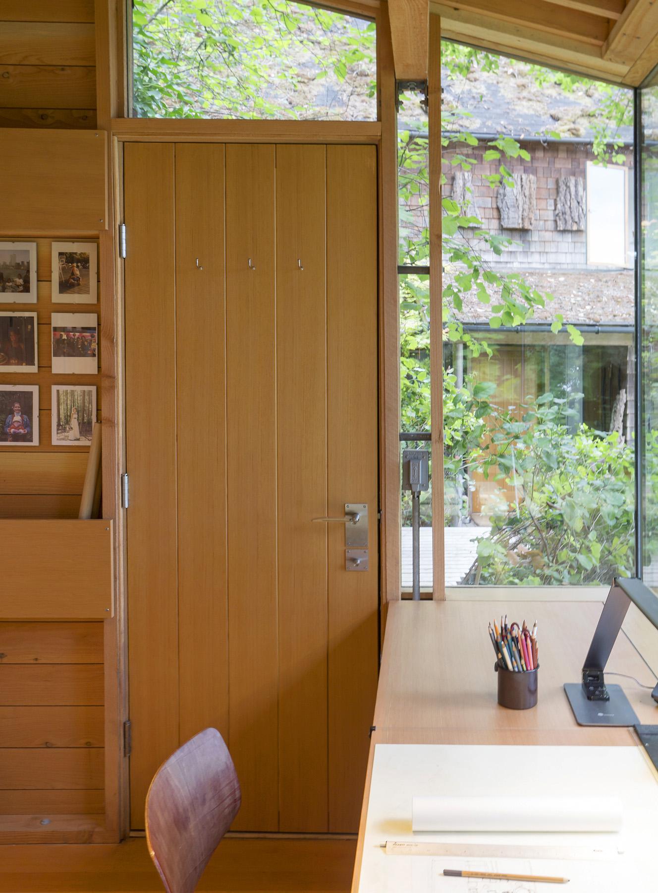 Cutler Cabin, Closed Door and Desk
