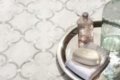 Fleur de Lys stone mosaic