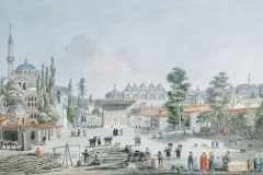 Galataport, View of Tophane Karakoy by Jean Baptiste Hilaire
