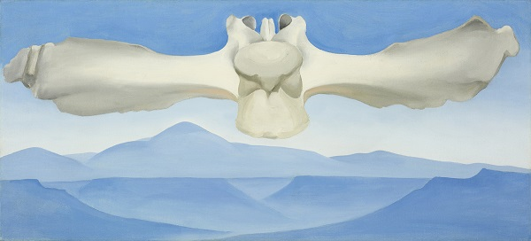 Georgia O'Keeffe Flying Backbone Oil on Canvas 1944