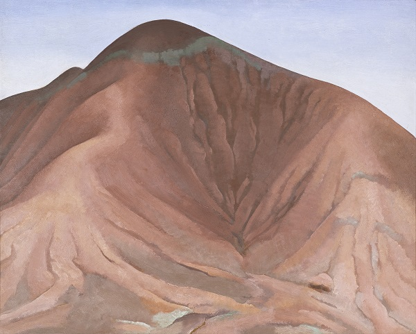Georgia O'Keeffe, Small Purple Hills, 1934, oil on panel, 16 x 19 ¾ in., Crystal Bridges Museum of American Art, Bentonville, Arkansas, 2006.11; © 2018 Crystal Bridges Museum of American Art, Bentonville, Arkansas; Photograph: Amon Carter Museum of American Art
