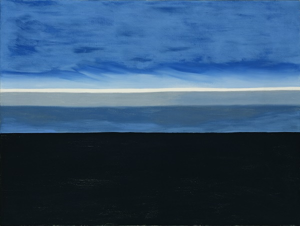 Georgia O'Keeffe. The Beyond, 1972. Oil on canvas, 30 1/16 x 40 3/16 in (76.3 x 101.7 cm). Georgia O'Keeffe Museum. Gift of The Georgia O'Keeffe Foundation. Copyright Georgia O'Keeffe Museum. [2006.5.460]