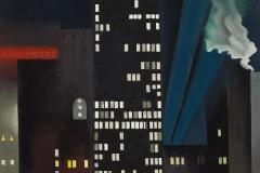 Georgia O'Keeffe Radiator Building-Night, New York Oil on Canvas, 1927