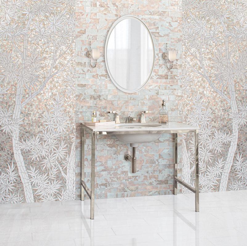 Gracie French Deco jewel glass mosaic