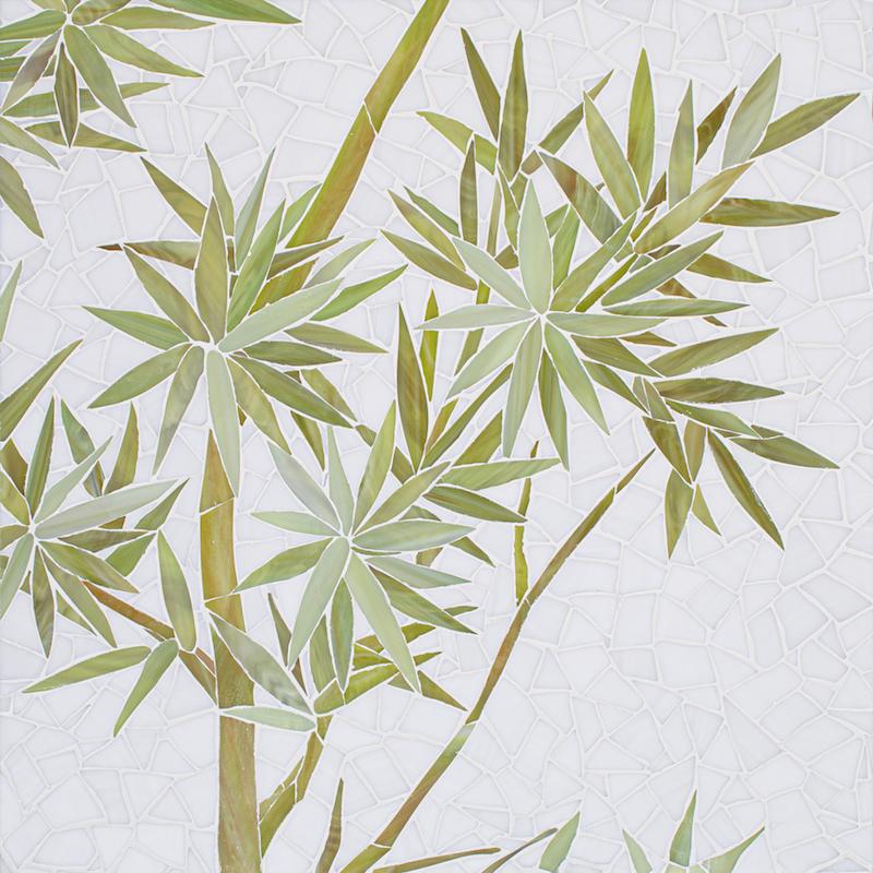 Bamboo jewel glass mosaic