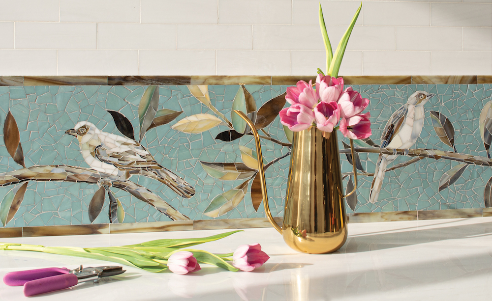 "Gracie Linda's Garden 12""glass mosaic"