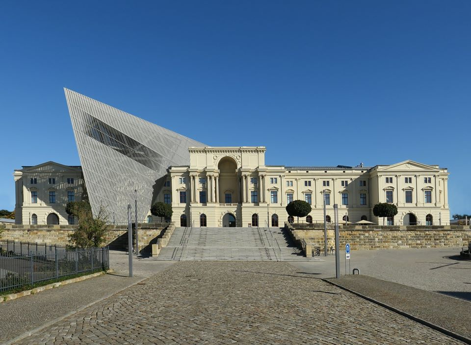 Military History Museum, by architect Daniel Liebeskind, Dresden, Germany, 2011 (1)