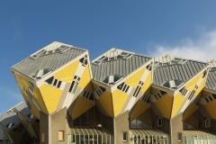 Kubuswoningen , Cube Houses, by architect Piet Blom, Rotterdam, Netherlands, 1984